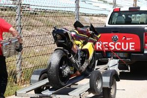 Sam Lowes, Marc VDS Racing Team crashed bike