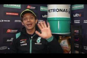 Screenshot Valentino Rossi con Petronas