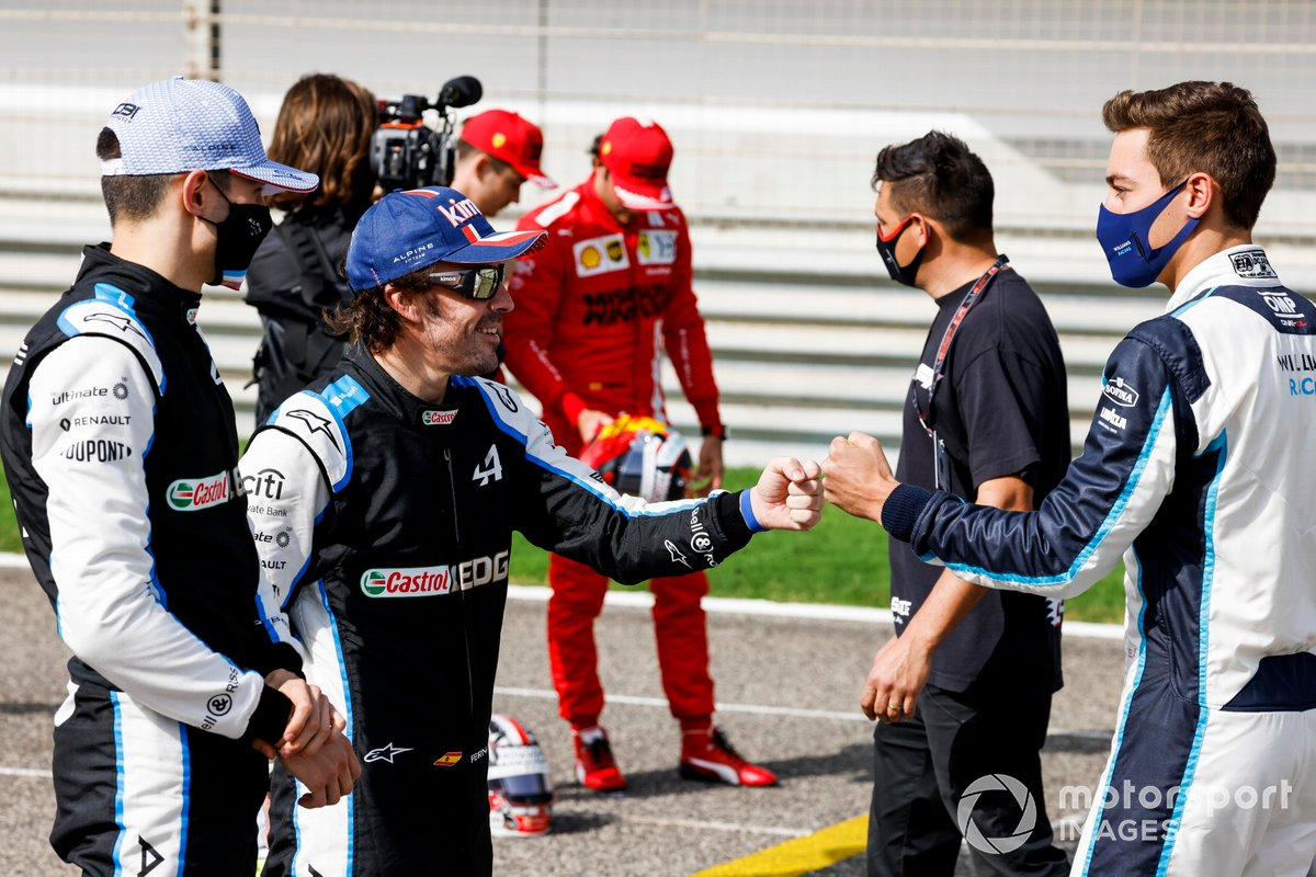 Esteban Ocon, Alpine F1, Fernando Alonso, Alpine F1 y George Russell, Williams