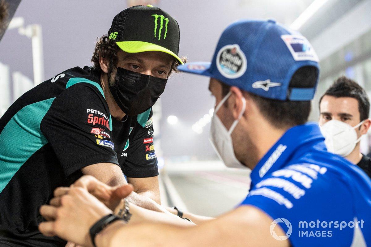 Alex Rins, Team Suzuki MotoGP, Valentino Rossi, Petronas Yamaha SRT