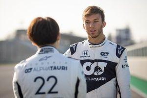 Pierre Gasly and Yuki Tsunoda, AlphaTauri