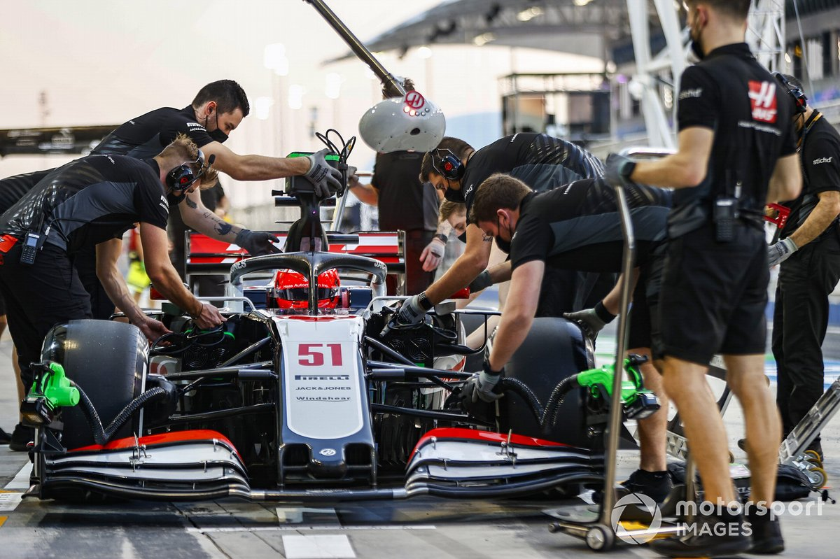 Pietro Fittipaldi, Haas F1 Haas VF-20 y boxes