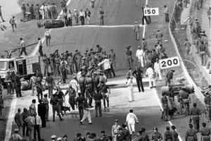 Le lieu de l'accident de Ronnie Peterson, Lotus