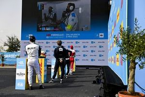 Alex Lynn, Mahindra Racing, Tom Blomqvist, NIO 333, Oliver Turvey, NIO 333, Norman Nato, Venturi Racing pendant la Super Pole