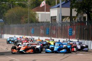 James Hinchcliffe, Andretti Steinbrenner Autosport Honda, Alex Palou, Chip Ganassi Racing Honda