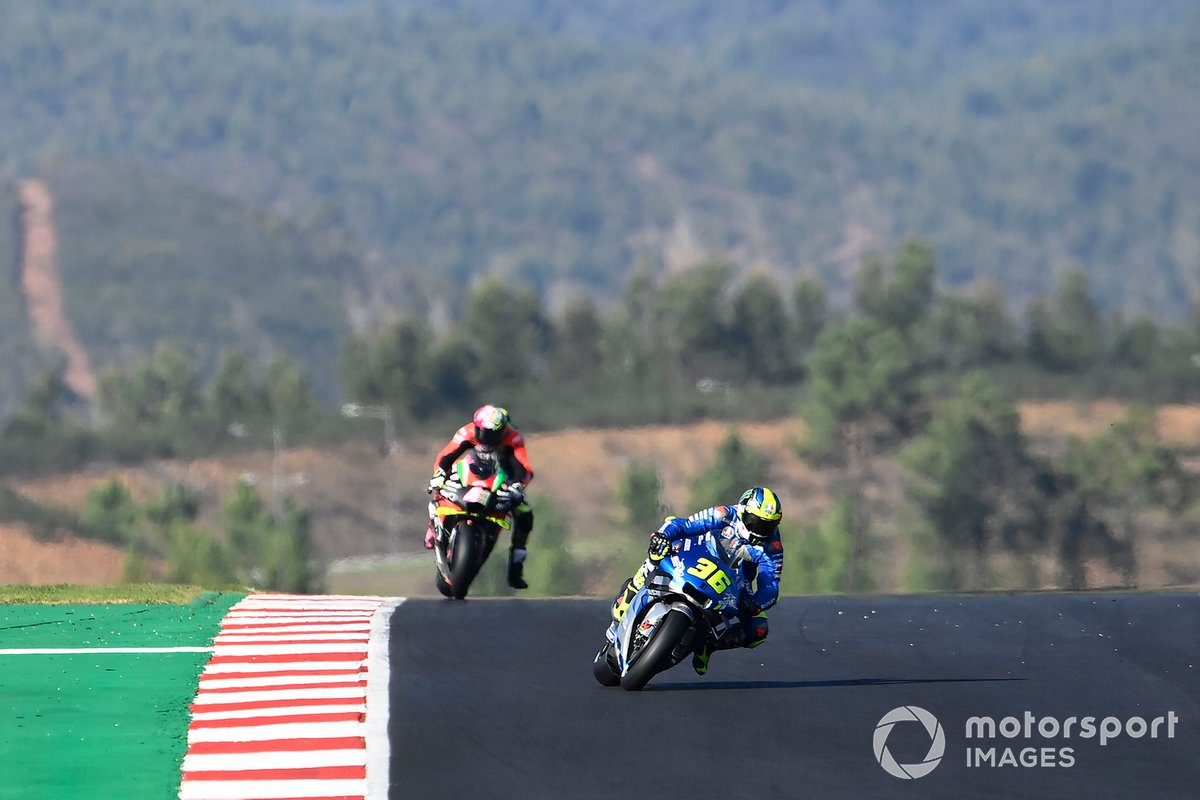 Joan Mir (Team Suzuki MotoGP) et Aleix Espargaró (Aprilia Racing Team Gresini)
