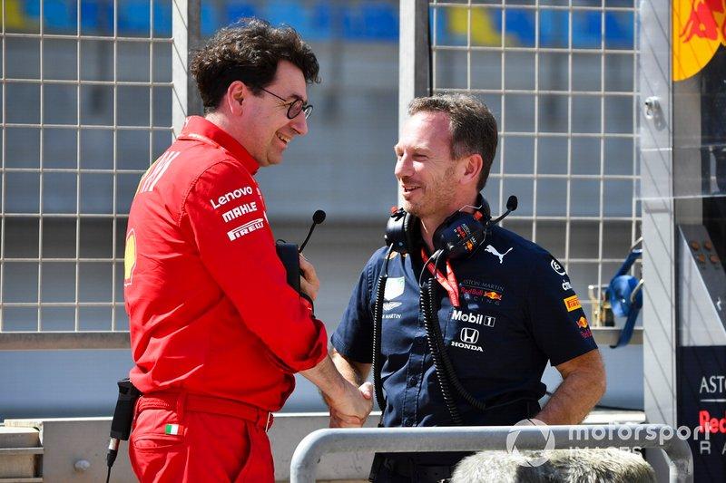 Маттіа Бінотто, керівник команди Ferrari, та Крістіан Хорнер, керівник команди Red Bull Racing