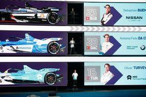Sébastien Buemi, Nissan e.Damss, Antonio Felix da Costa, BMW I Andretti Motorsports, Oliver Turvey, NIO Formula E Team