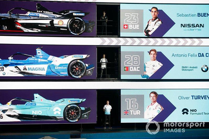 Sébastien Buemi, Nissan e.Dams, Antonio Felix da Costa, BMW I Andretti Motorsports, Oliver Turvey, NIO Formula E Team