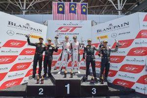 Race 2 podium GT3 Pro/Am celebrations