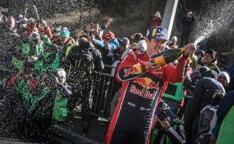 Podium: Winners Sébastien Ogier, Citroën World Rally Team Citroen C3 WRC