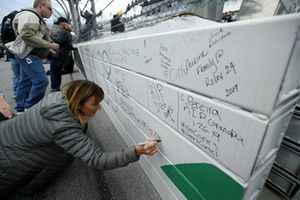 Fans signing wall