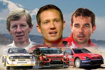 Walter Röhrl, Sébastien Ogier, Sébastien Loeb (Fotomontage)