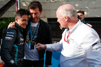 Mitch Evans, Panasonic Jaguar Racing, avec Mark Webber