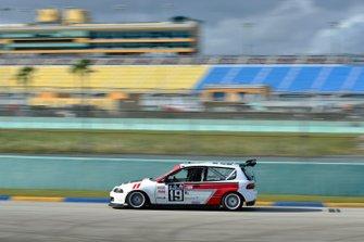 #19 MP3B Honda Civic driven by Juan Paulino and Rafael Rosario of J&A Autosports