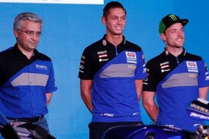 Alex Lowes et Michael van der Mark à la conférence Yamaha Motorsports 2019, Pata Yamaha Official WorldSBK Team.