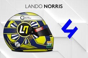 El casco 2019 de Lando Norris