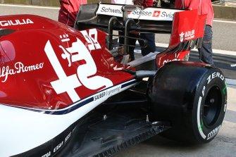 Alfa Romeo Racing C38 detalle trasero