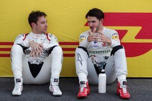 Robin Frijns, Envision Virgin Racing, Audi e-tron FE05, and Daniel Abt, Audi Sport ABT Schaeffler, Audi e-tron FE05, on the grid