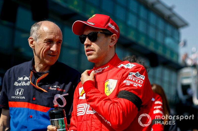 Franz Tost, director Toro Rosso y Sebastian Vettel, Ferrari