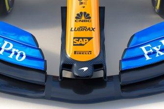 Detalle del McLaren MCL34