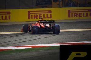 Sebastian Vettel, Ferrari SF90, recovers after a spin