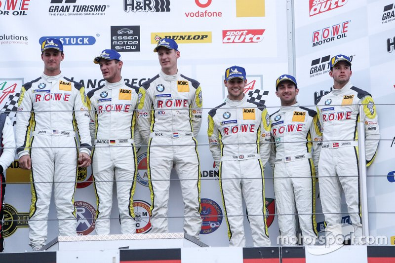 Podium: #99 ROWE Racing BMW M6 GT3: Nick Catsburg, Marco Wittmann, John Edwards, #98 ROWE Racing BMW M6 GT3: Connor De Phillippi, Tom Blomqvist, Mikkel Jensen