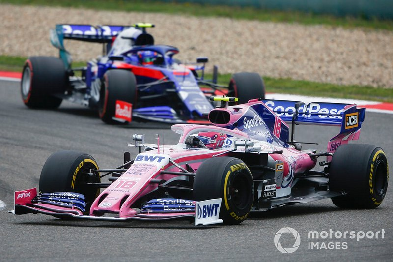 Lance Stroll, Racing Point RP19, Alexander Albon, Toro Rosso STR14