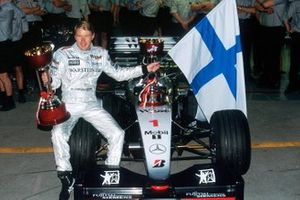 Mika Hakkinen, Mclaren MP4-14 race winner and World Champion
