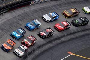 Brad Keselowski, Team Penske, Ford Discount Tire and Joey Logano, Team Penske, Ford Mustang Autotrader