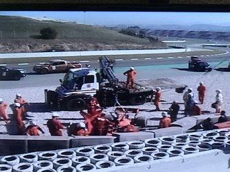 Screenshot dell'incidente di Sebastian Vettel, Ferrari SF90