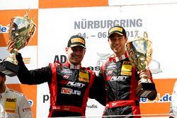 Podium: 1. #3 Aust Motorsport, Audi R8 LMS: Markus Pommer, Kelvin van der Linde