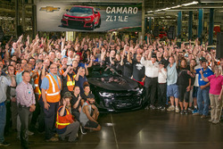 Rick Hendrick taking delivery of the first Chevrolet Camaro ZL1 1LE