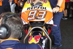 New fairing on Marc Marquez bike, Repsol Honda Team