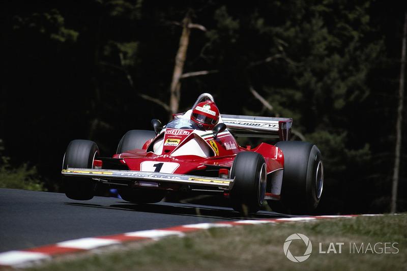 Niki Lauda, Ferrari 312T2, Pflanzgarten virajı sonrası