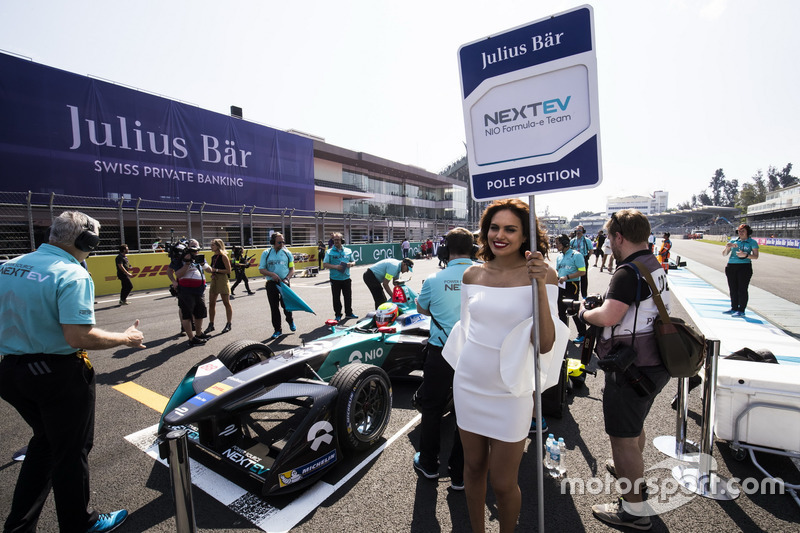 Pole position girl Julius Baer