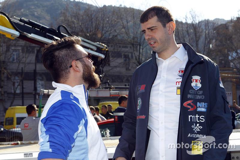 Stefano Comini, Comtoyou Racing and Dušan Borkovic , GE-Force