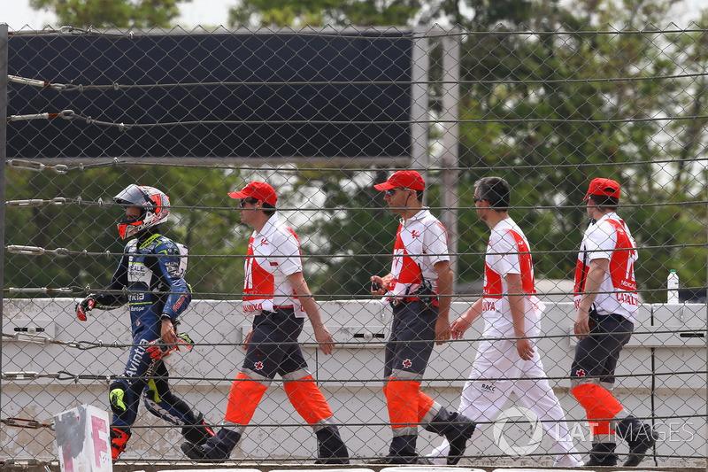 Hector Barbera, Avintia Racing, nach Sturz
