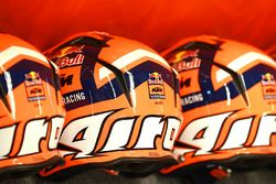 Red Bull KTM Factory Racing mechanic's pit lane helmets