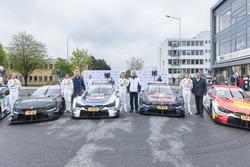 Bruno Spengler, BMW Team RBM; Tom Blomqvist, BMW Team RBM; Marco Wittmann, BMW Team RMG; Augusto Far