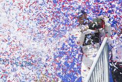 Podio: ganador Sam Bird, DS Virgin Racing