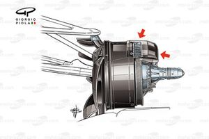Mercedes W08 brake duct, Azerbaijan GP