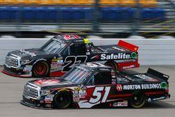 Ben Rhodes, ThorSport Racing Toyota, Harrison Burton, Kyle Busch Motorsports Toyota