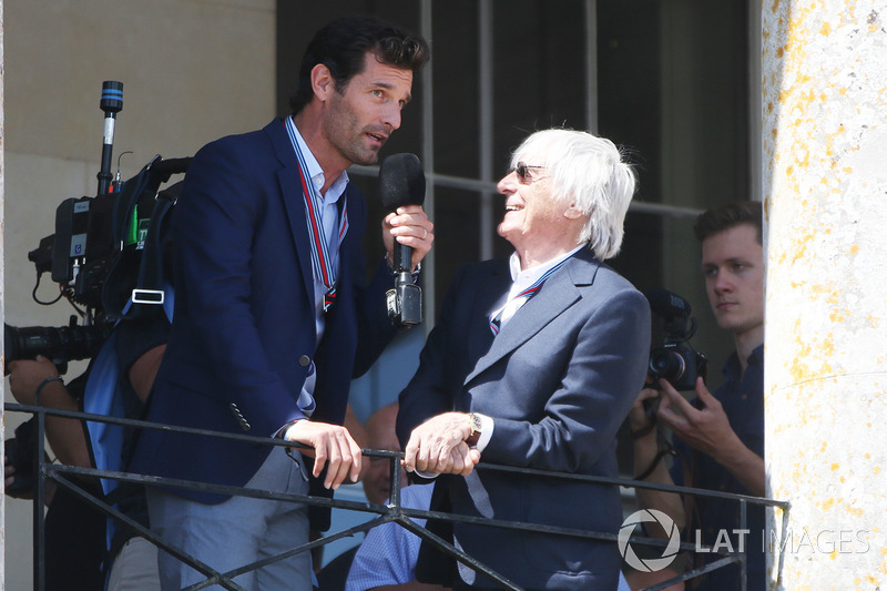 Mark Webber y Bernie Ecclestone