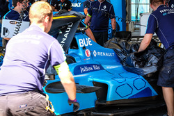 Wagen van Sébastien Buemi, Renault e.Dams na crash