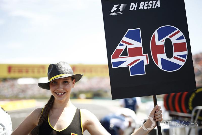Grid Girl for Paul di Resta, Reserve Driver, Williams F1