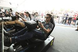 Mitch Evans, Jaguar Racing, pendant l'eRace