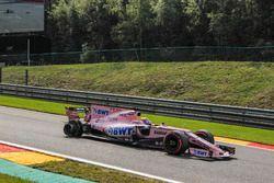 Crevaison pour Sergio Perez, Sahara Force India VJM10