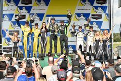 GTD podium: first place Corey Lewis, Jeroen Mul, Change Racing, second place Jens Klingmann, Jesse Krohn, Turner Motorsport, third place Jeroen Bleekemolen, Ben Keating, Riley Motorsports