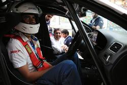 Rayomand Banajee with Sirish Vissa, Head of Volkswagen Motorsport India